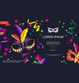 cartoon carnival festive template vector image vector image