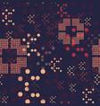 chaotic random geometry seamless pattern vector image