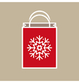 Christmas Holiday Gift Bag vector image vector image