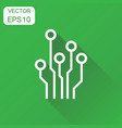 circuit board icon business concept technology vector image vector image