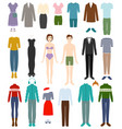 clothing woman or man wearing clothes and vector image