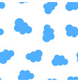 clouds icon seamless pattern background business vector image