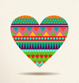Colorful heart design in fun geometric shape style vector image vector image