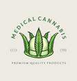 crown medical cannabis logo weed design vector image vector image