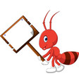 cute ant cartoon vector image vector image