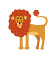 cute funny lion cartoon character vector image vector image