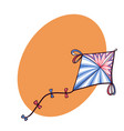 decorated diamond doodle kite with space for text vector image vector image
