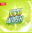 Detergent packaging concept design showing eco
