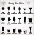 Drinking Glass Silhouettes