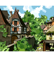 European village vector image