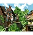 European village vector image vector image