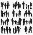 family 4 silhouettes vector image vector image