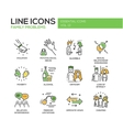 family problems- line design icons set vector image vector image