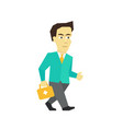 fast business help the doctor with briefcase is vector image vector image