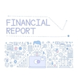 financial report infographics vector image vector image