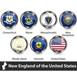 flags new england us vector image vector image