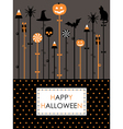 halloween party card vector image vector image