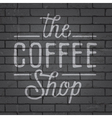 Hand drawn lettering slogan for coffee vector image vector image