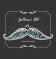 hand drawn mustache with lettering and vignettes vector image vector image