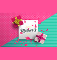 happy mothers day floral card for mom holiday gift vector image vector image