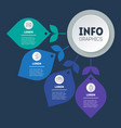 info graphic technology or education process vector image vector image