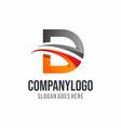 letter d logo d logo vector image vector image