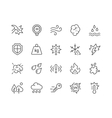 Line Influence Icons vector image vector image