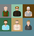Man avatars in a flat style