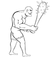 Man with mace vector image