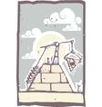 Masonic Pyramid vector image vector image