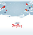 merry christmas greeting card banner and vector image