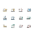 Modern flat design sewing equipment icons vector image vector image