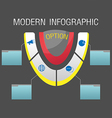 Modern Option Info Graphic Template vector image vector image