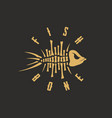 modern professional sign logo fish bone vector image