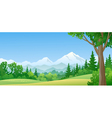Mountain forest vector image vector image