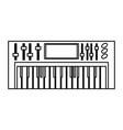 musical keyboard technology vector image vector image