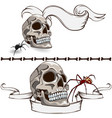 old skull banners vector image vector image