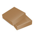 packaging top view open brown square packaging vector image vector image