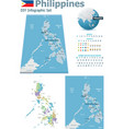philippines maps with markers vector image
