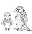 pinguin set for adult coloring page Hand vector image vector image
