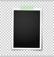 realistic classic photo frame with straight edges vector image vector image