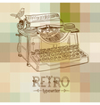 retro typewriter vector image