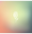 rose icon on blurred background vector image vector image