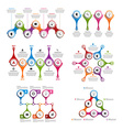 Set colorful infographics in the form of metabolic vector image vector image