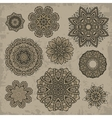 Set of ornamental vintage Floral elements vector image