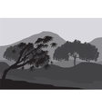 Silhouettes of weathered tree vector image