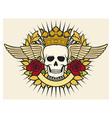 Skull symbol - skull tattoo design vector image vector image