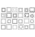 square hand drawn frames sketch picture doodle vector image vector image