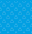 steal toaster pattern seamless blue vector image