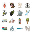 tail history travel and other web icon in vector image vector image